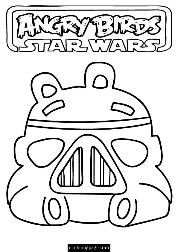 595x842 Angry Birds Star Wars Storm Trooper Pig Printable Coloring Page