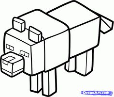 236x200 Minecraft Character Coloring Pages Free Simple