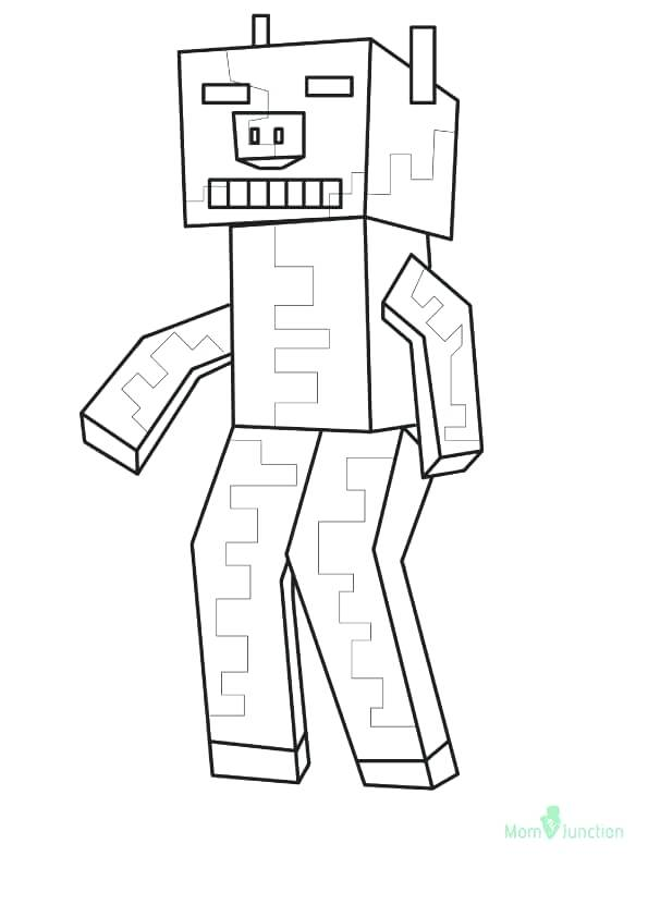 Minecraft Skeleton Drawing At Getdrawings Com Free For
