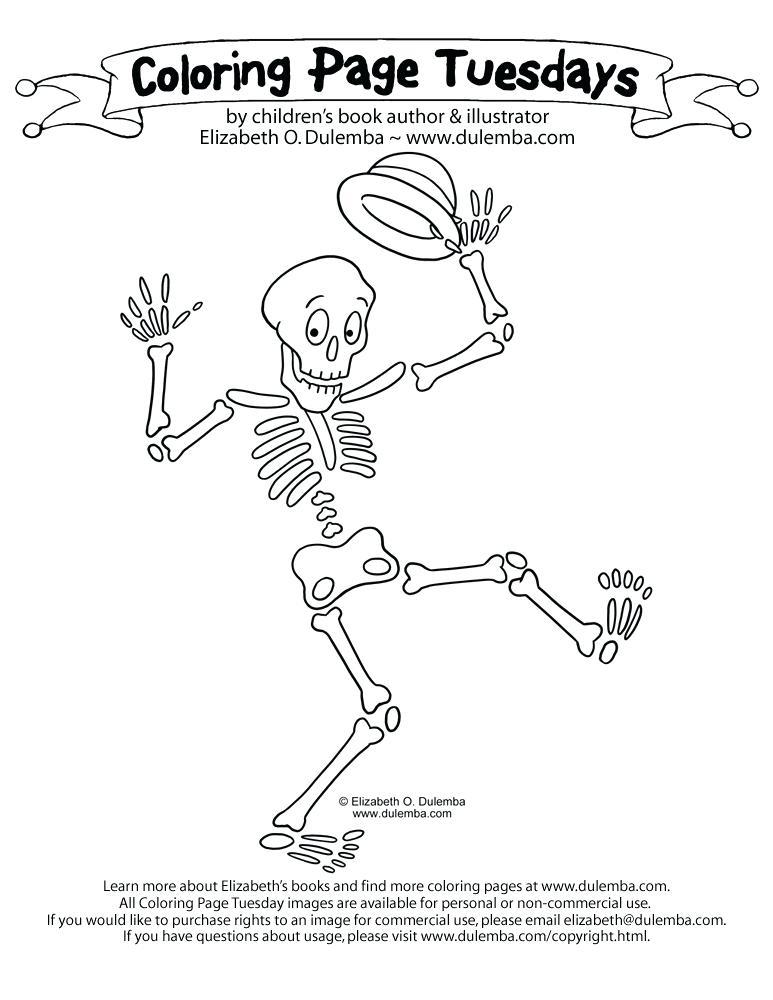 773x1000 Skeleton Coloring Page Skeleton Coloring Pages X Printable