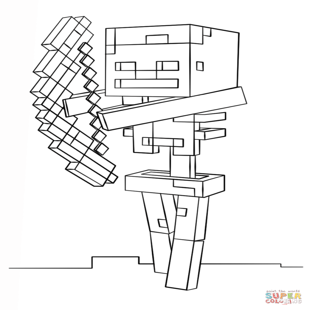 Minecraft Skeleton Drawing At Getdrawingscom Free For Personal
