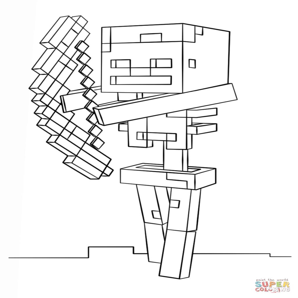 Minecraft Skeleton Drawing at GetDrawings   Free download