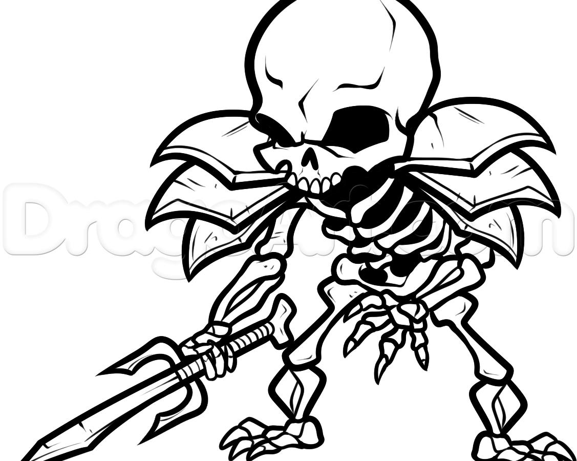 Minecraft Skeleton Drawing at GetDrawings