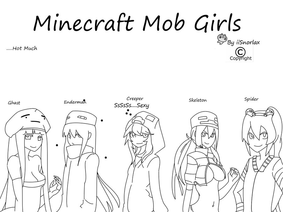 900x675 Minecraft Skin Coloring Pages Unique Mob Girls By