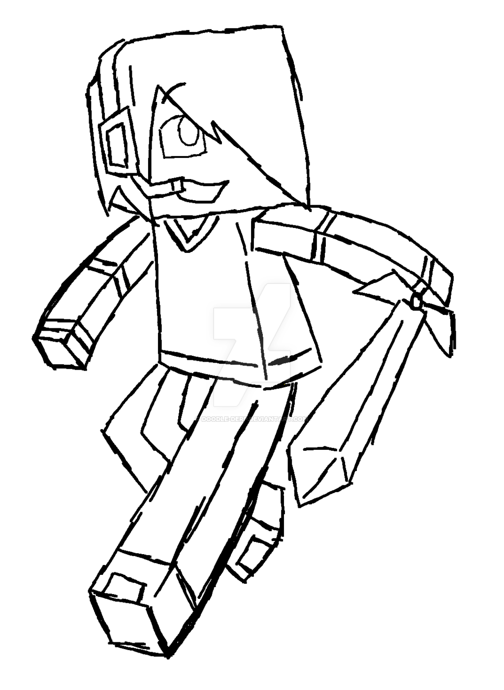 Minecraft skin drawing at getdrawings free for personal use 1024x1402 deadlox sketch c by doodle derp on deviantart maxwellsz