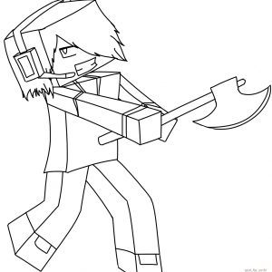 300x300 Minecraft Craft Coloring Pages Copy Minecraft Skins Coloring Pages