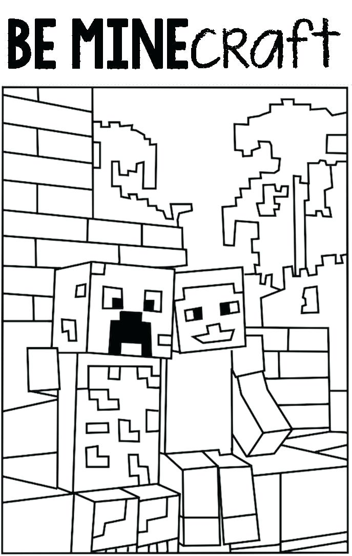 687x1084 Printable Minecraft Coloring Pages Printable Coloring Pages Best