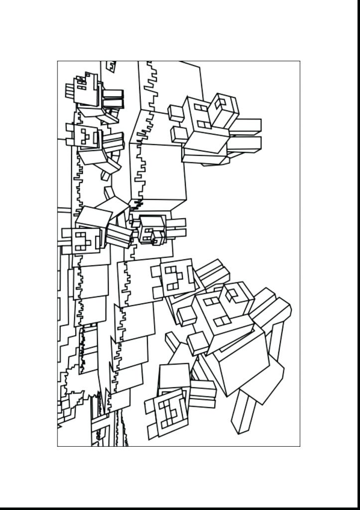 723x1024 Printable Minecraft Skins Coloring Pages Free Sheets For Kids