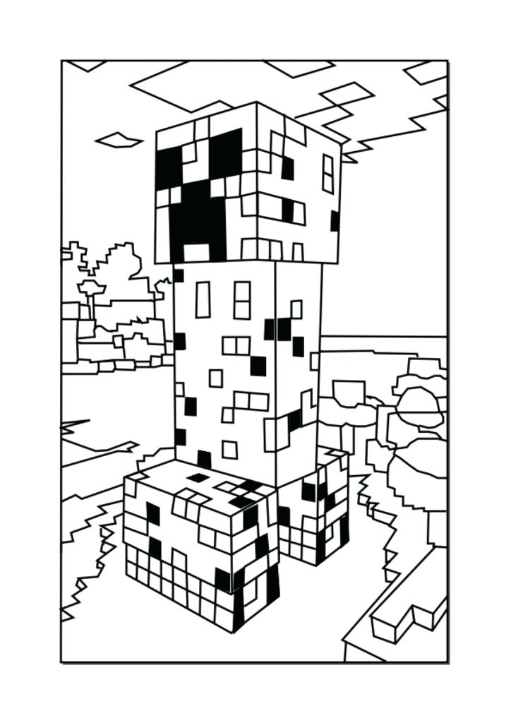 724x1024 Beautiful Printable Minecraft Coloring Pages Or Coloring Page Boy