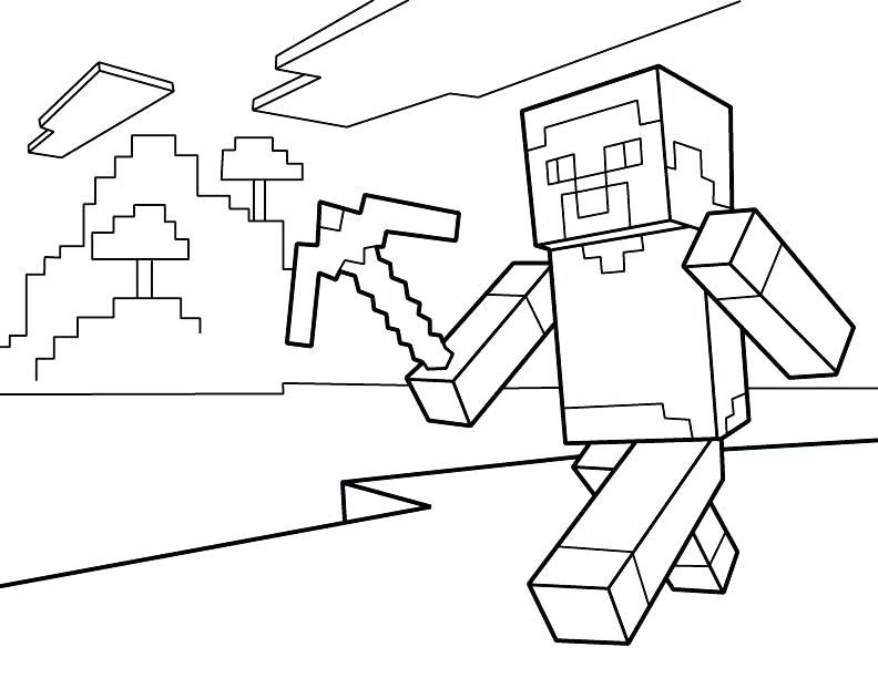 792x612 Printable Minecraft Coloring Pages