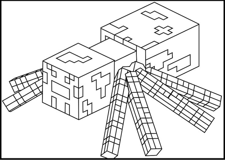 736x522 Minecraft Coloring Pages