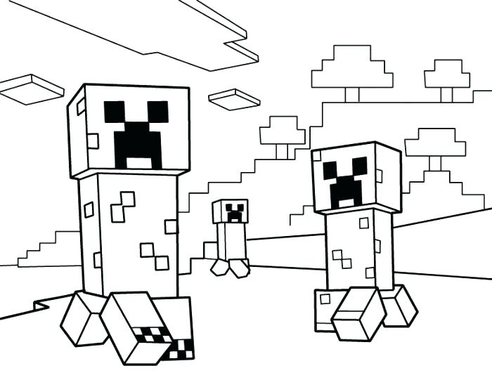 700x541 Printable Minecraft Coloring Pages
