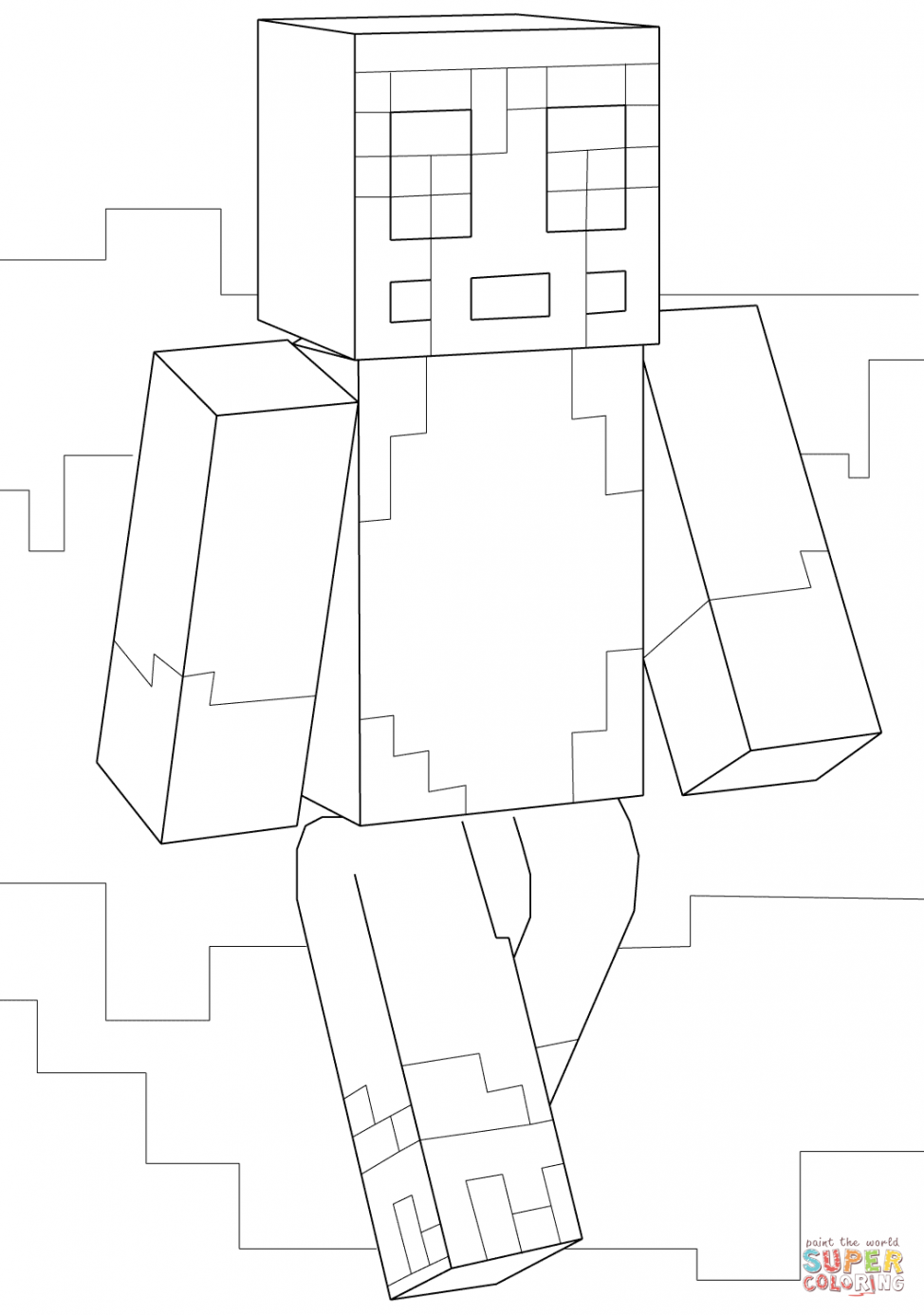 974x1386 Coloring Pages Decorative Stampy Coloring Pages Minecraft Page