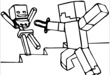 220x150 Minecraft Coloring Pages
