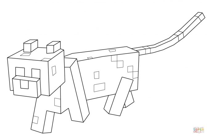 671x439 Stampy Coloring Pages