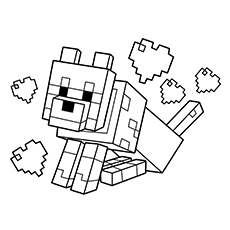 230x230 Free Printable Minecraft Wolf Coloring Page Extra Projects