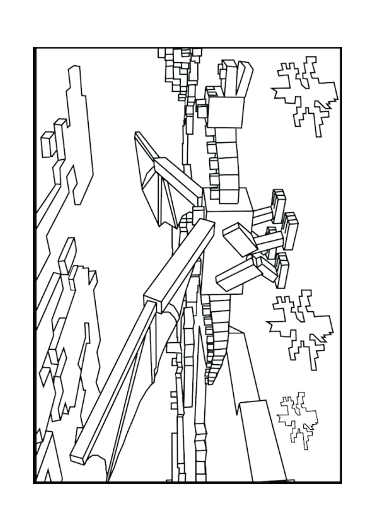 This is a photo of Modest free coloring pages minecraft