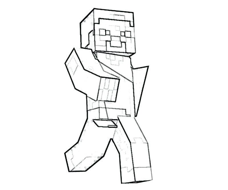 800x667 Minecraft Wolf Coloring Pages Printable