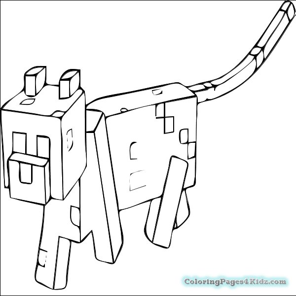 600x601 Minecraft Coloring Pages Free 31 For Kids