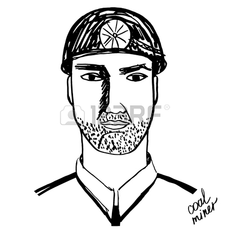 450x450 Coal Miner Black White Royalty Free Cliparts, Vectors,