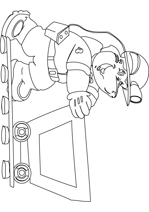 595x842 Coal Miner Free Coloring Page