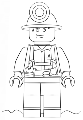 333x480 Lego City Miner Coloring Page Free Printable Coloring Pages
