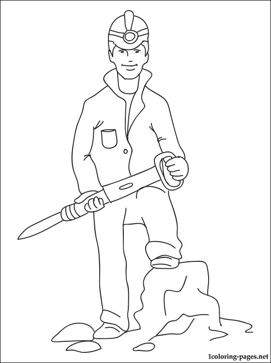 560x750 Miner Coloring Page Coloring Pages
