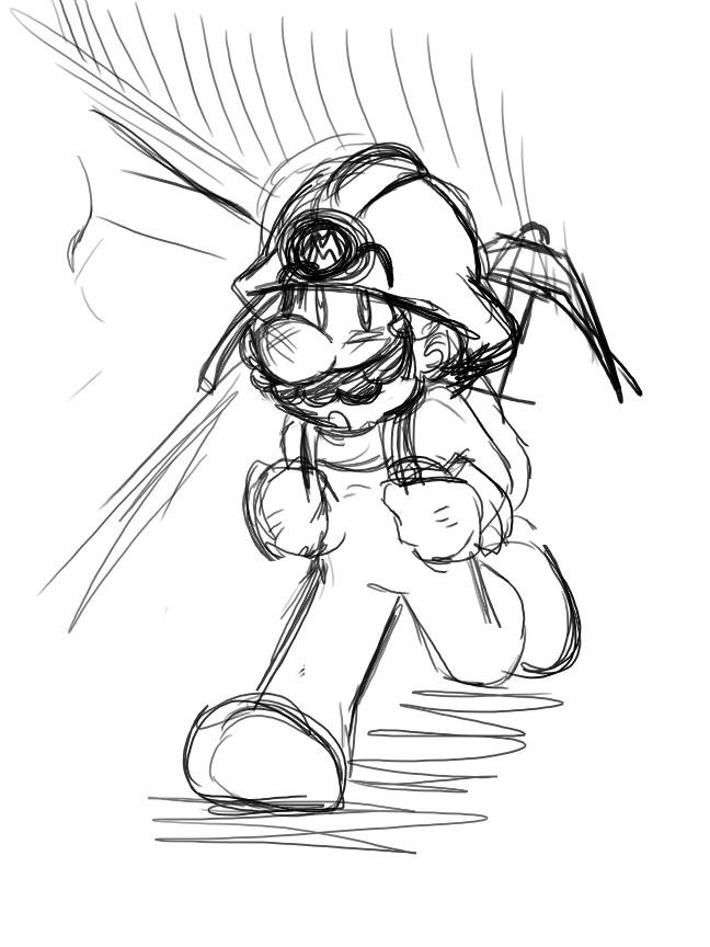 648x864 Wip Miner Mario By Loveandcake