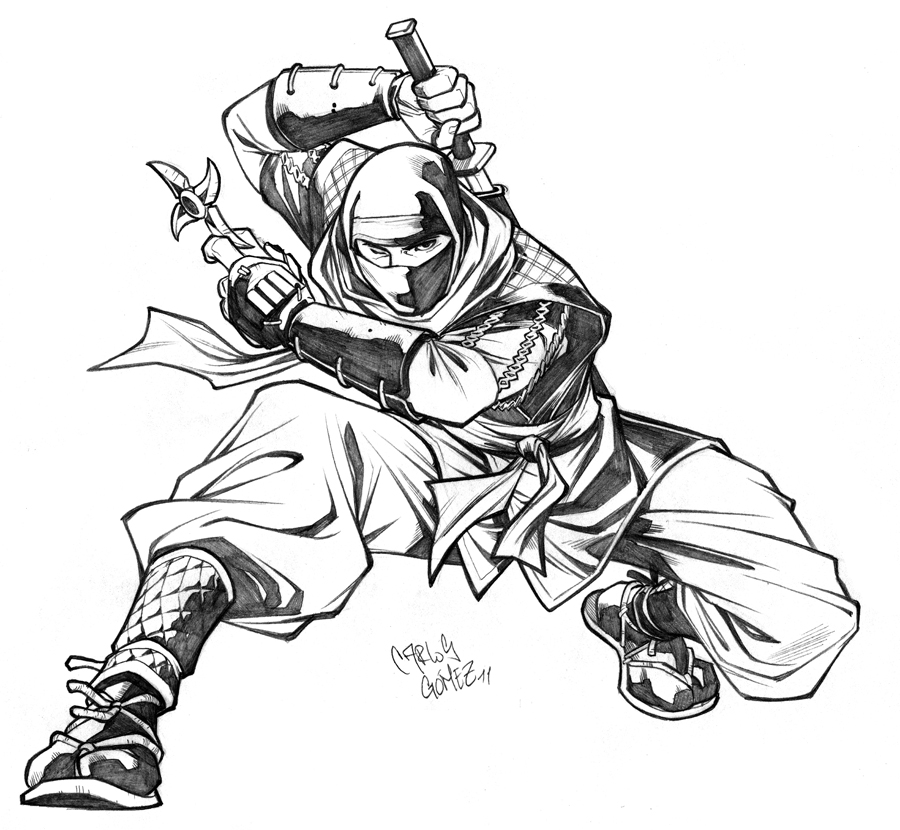 900x830 Ninja Sketch Commission By Carlosgomezartist