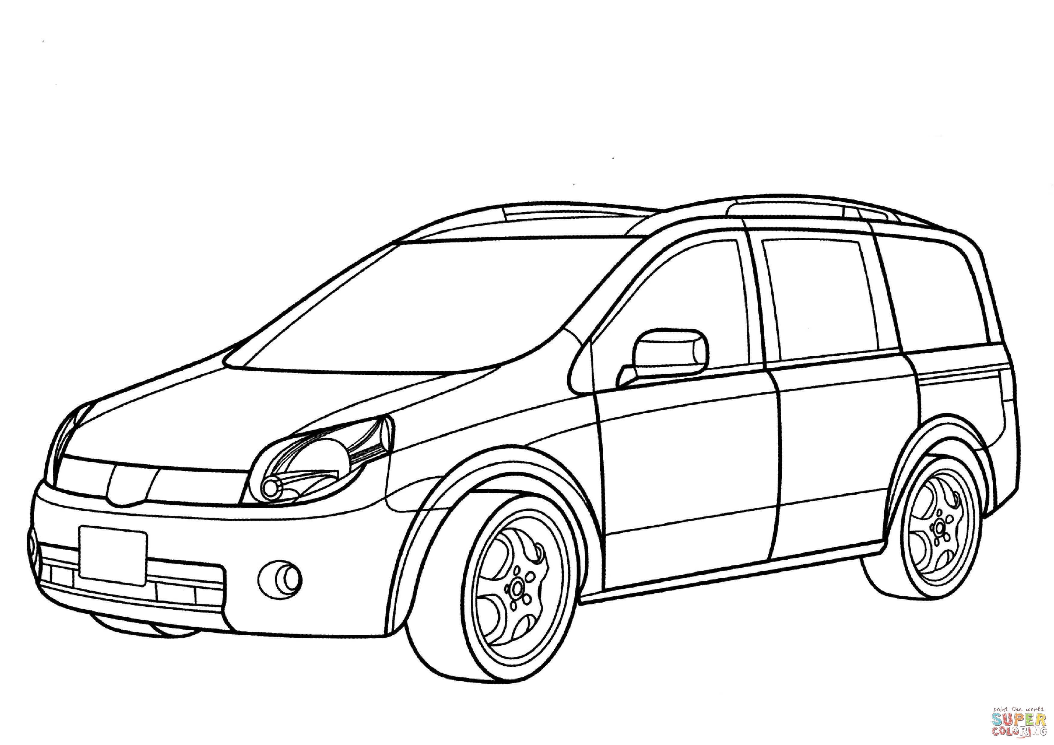 3508x2480 Nissan Lafesta Minivan Coloring Page Free Printable Coloring Pages