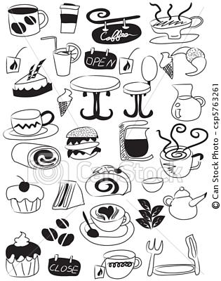 315x400 Mini Food Sketches Embroidery Ideas