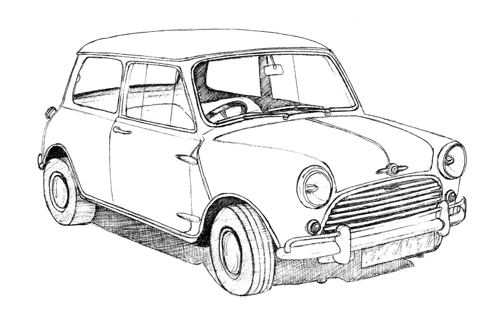 1000x663 Classic British Car Drawings Bob Stokes Cartoons Blog