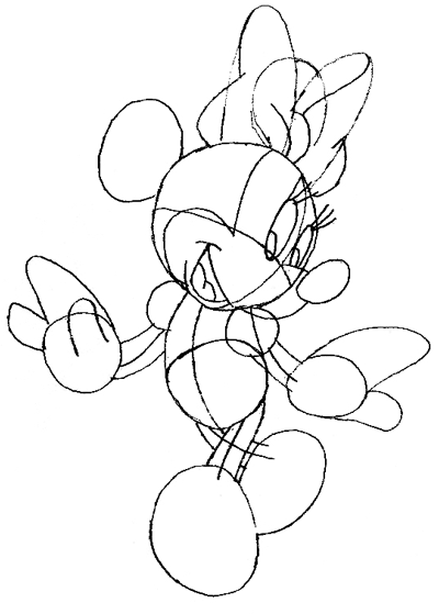 400x559 How To Draw Minnie Mouse With Simple Step By Step Drawing Lesson