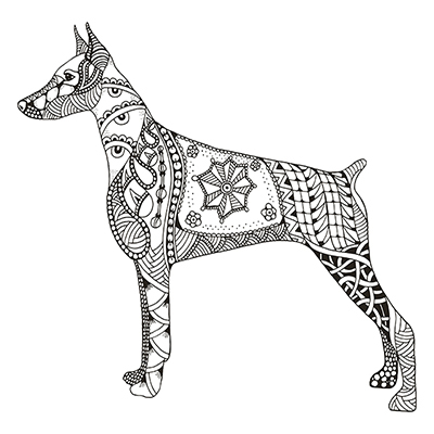 400x400 My Recent Personal Drawings. Zentangle Stylized Animals On Behance