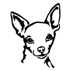 236x236 Chihuahua Face Die Cut Decal Car Window Wall Bumper Phone Laptop