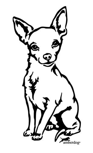 308x504 Chihuahua Dog Breed Face Free Halloween Pumpkin Carving Stencil