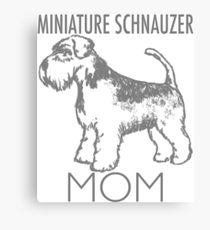 210x230 Miniature Schnauzer Drawing Canvas Prints Redbubble