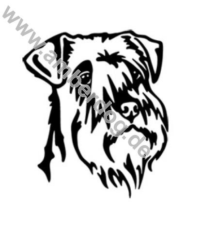 415x480 Miniature Schnauzer Wall Tattoo No. Tk0124, Plastic, 120 X 115 Cm