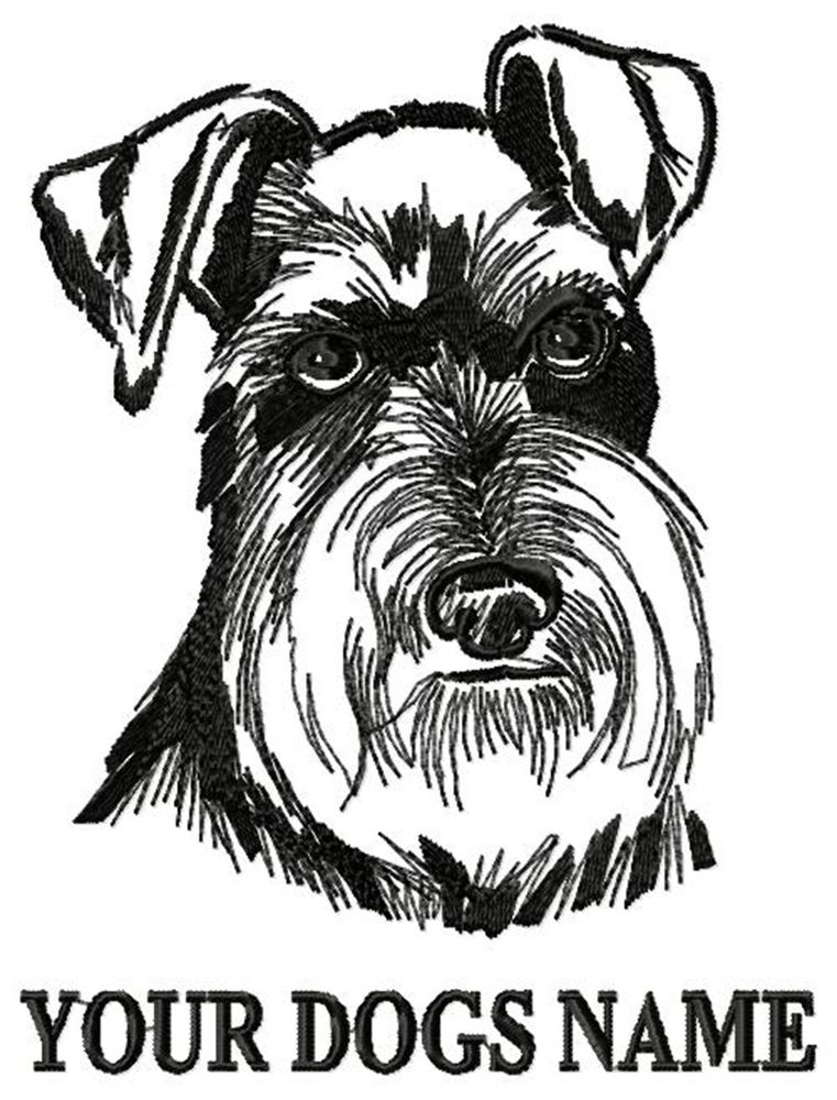 761x1000 Personalized Uncropped Schnauzer Embroidered T Shirt Youth Adult