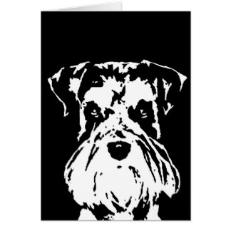324x324 Black White Schnauzer Cards