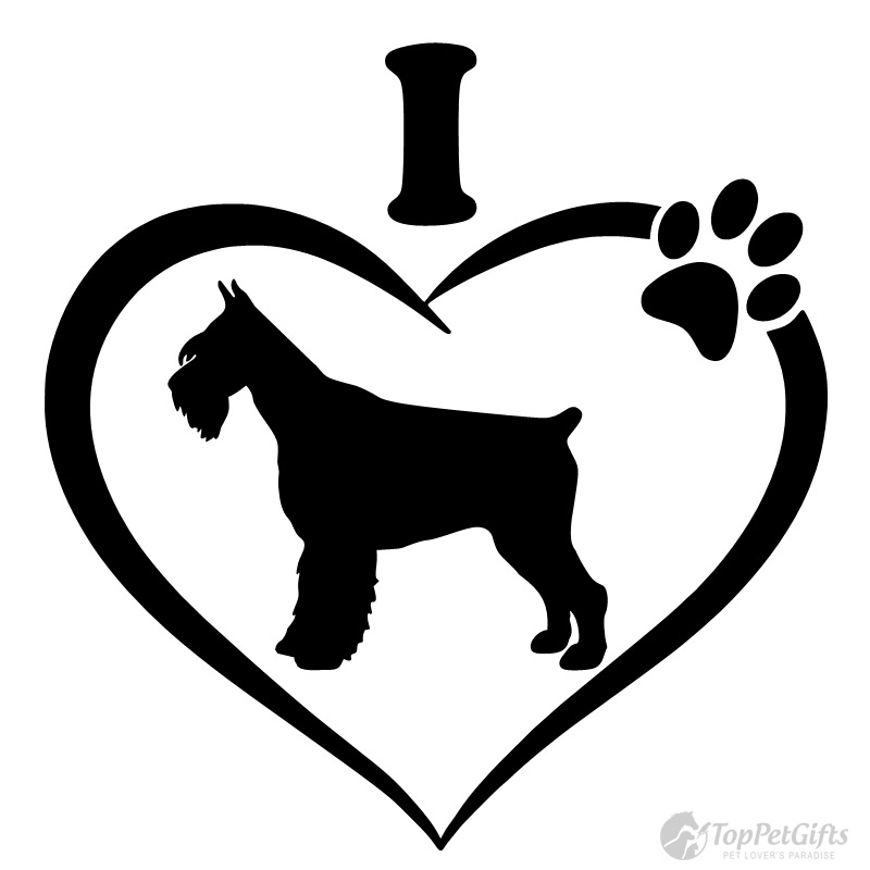 800x800 I Love My Schnauzer Decal