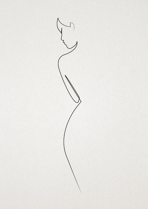 500x707 Simple. Organized. Minimal. Minimalist Ink Drawing