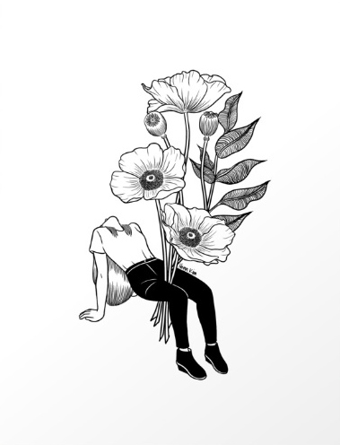 379x496 Let Me Bloom Art Print Printing, Tattoo And Drawings