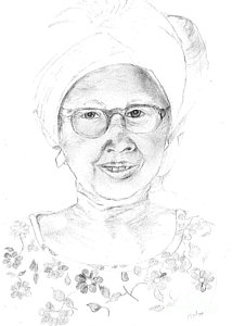 214x300 Mother Of The Minister Of Mining Drawing By Elarue Erma Bonner Platte