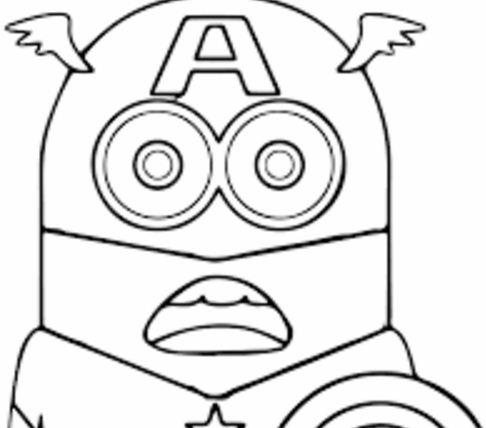 486x428 Happy Birthday Minion Coloring Page