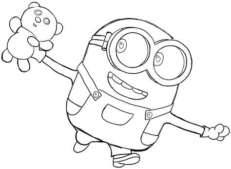 474x346 How To Draw Bob The Minion With A Teddy Bear From The Minions