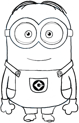 326x510 How To Draw Dave One Of The Minions From Despicable Me Drawing