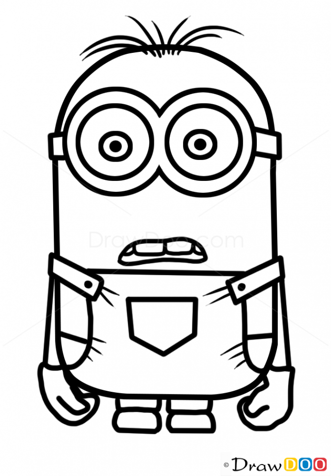 665x955 Minion Cartoon Characters To Draw