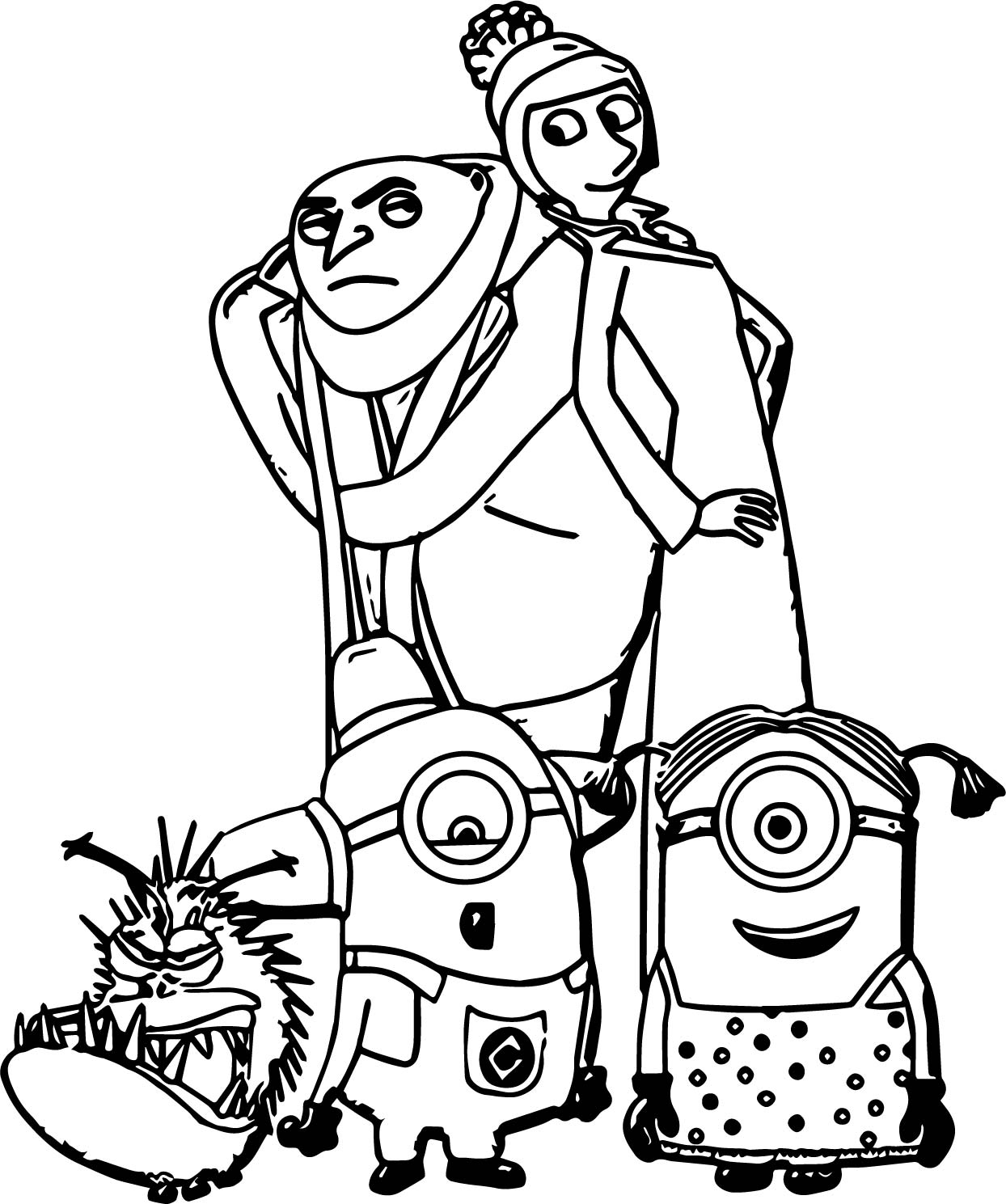 1244x1489 Minion Cartoon Caricatures Ws Coloring Page Wecoloringpage