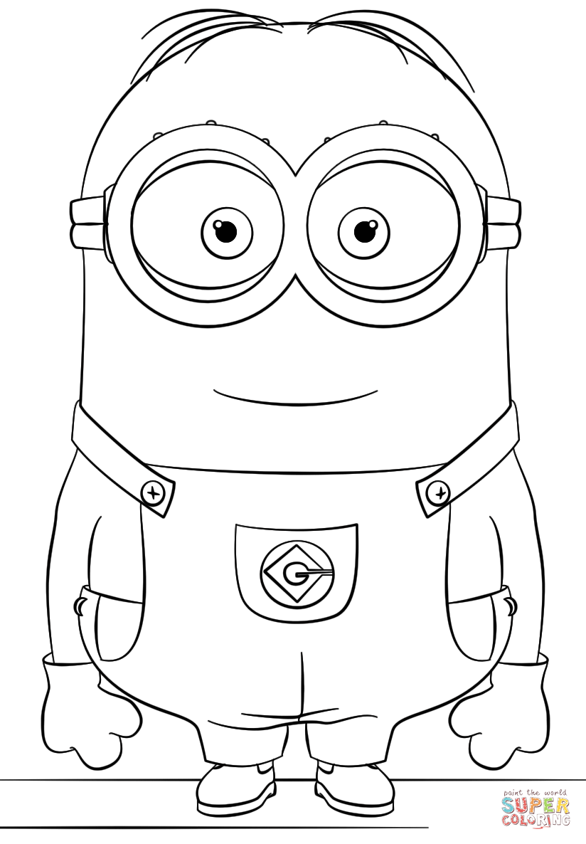 824x1186 Minion Dave Coloring Page Free Printable Coloring Pages